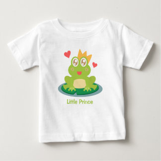 Kawaii frog with sparkling eyes on a lily pad baby T-Shirt