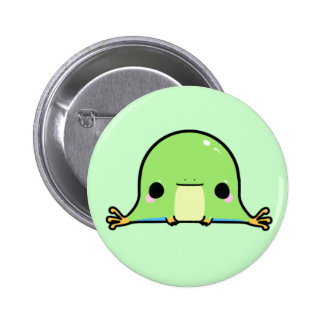 Kawaii Frog (You change the Background!) 2 Inch Round Button