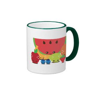 Kawaii Fruit Group Ringer Mug