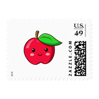 Kawaii Fruit Red Apple Stamp