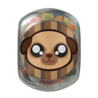 Kawaii funny dog candy tin