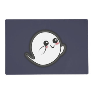 Kawaii funny ghost placemat