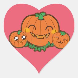Kawaii funny Pumpkin Heart Sticker