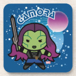 Kawaii Gamora In Space Drink Coaster