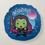 Kawaii Gamora In Space Round Pillow