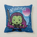 Kawaii Gamora In Space Throw Pillow
