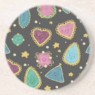 Kawaii Gems Sandstone Coaster