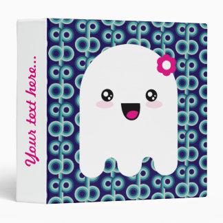 Kawaii ghost 3 ring binder