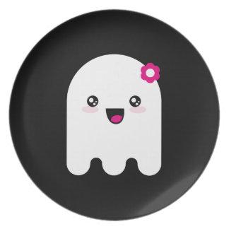 Kawaii ghost dinner plate