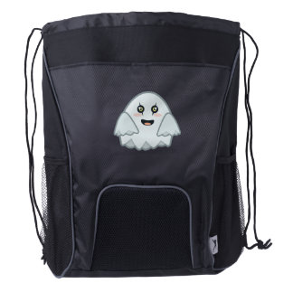 Kawaii Ghost Drawstring Backpack