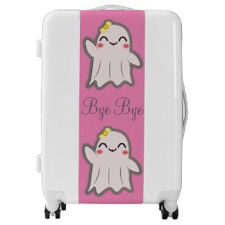 Kawaii ghost goodbye luggage