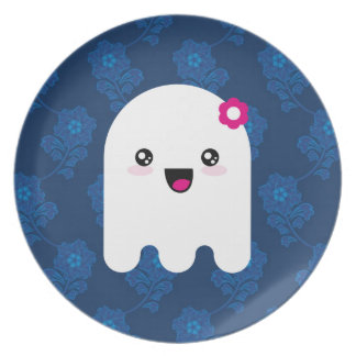 Kawaii ghost melamine plate