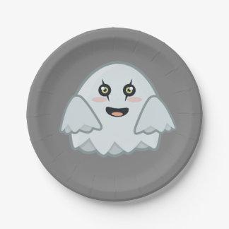 Kawaii Ghost Paper Plate