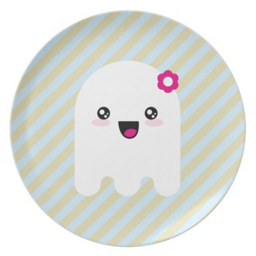 Kawaii ghost party plate