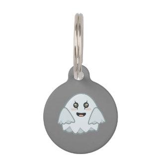 Kawaii Ghost Pet Name Tag