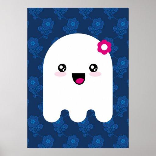 Kawaii ghost poster