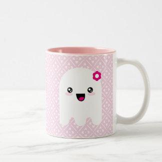 Kawaii ghost Two-Tone coffee mug