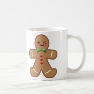 Kawaii Gingerbread Man Classic White Coffee Mug