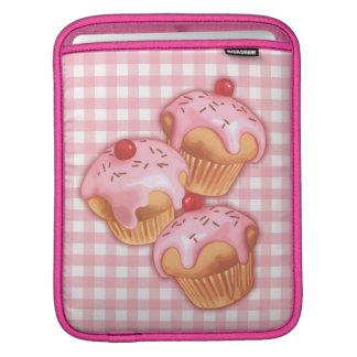 Kawaii ginngham cupcake iPad sleeve
