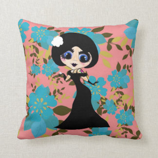 Kawaii Girl ArtDeco Gothloli Pillow