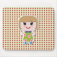 Kawaii Girl Cute Girl Mousepad