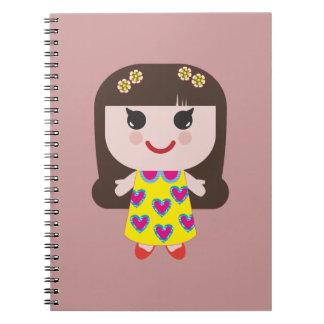 Kawaii Girl Cute Girl Spiral Notebook