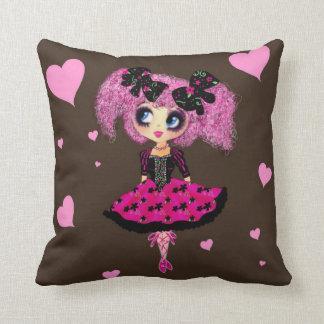 Kawaii Girl PinkP Prom Princess Throw Pillows