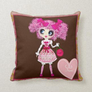 Kawaii Girl PinkP sweet loli Throw Pillow