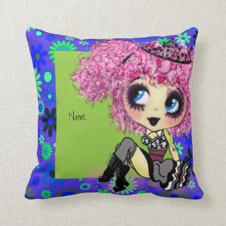 Kawaii Girl PinkyP Punk Lolita so cute Throw Pillows