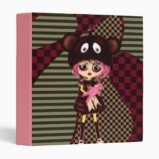 Kawaii Girl PinkyP Sad Goth Girl decor Vinyl Binders