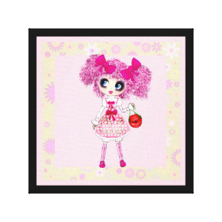 Kawaii Girl PinkyP so sweet Canvas Print