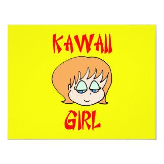 kawaii girl red card