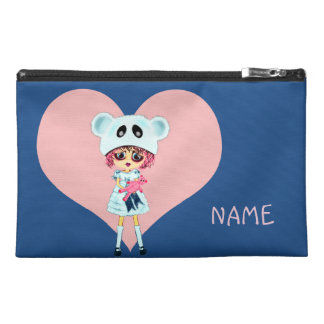 Kawaii Girl why so sad? Crying child with bear Travel Accessories Bag