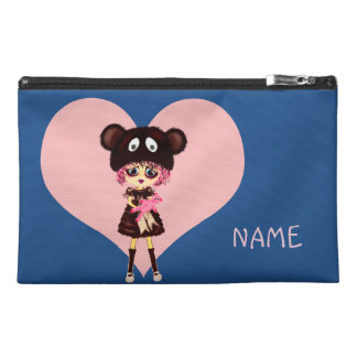 Kawaii Girl why so sad? Crying child with bear Travel Accessory Bag