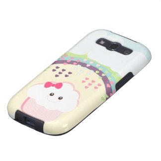 Kawaii Girly Cupcake Galaxy SIII Cases