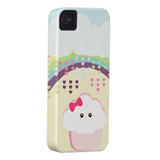 Kawaii Girly Cupcake iPhone 4 Case-Mate Cases
