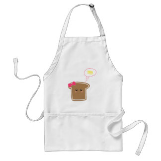 Kawaii Girly Toast n' Butter Adult Apron