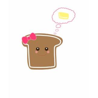 Kawaii Girly Toast n' Butter shirt