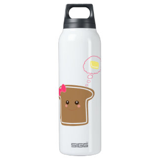 Kawaii Girly Toast Thermos Water Bottle