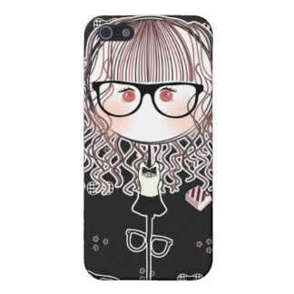 Kawaii Glasses Doll (Black Version) iPhone SE/5/5s Cover