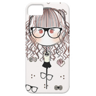 Kawaii Glasses Doll Iphone Case (White Version)
