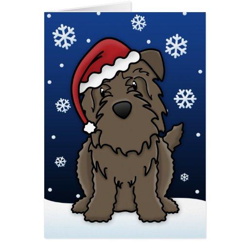 Kawaii Glen of Imaal Terrier Christmas Card