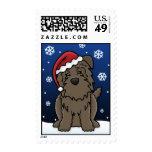 Kawaii Glen of Imaal Terrier Christmas Postage Stamps