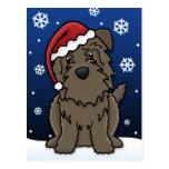 Kawaii Glen of Imaal Terrier Christmas Postcard