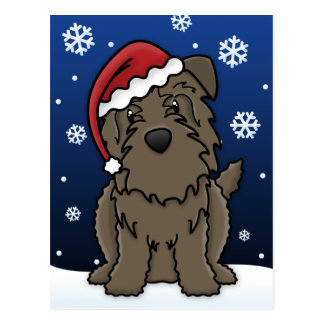 Kawaii Glen of Imaal Terrier Christmas Postcard