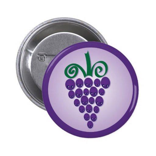 Kawaii Grapes 2 Inch Round Button