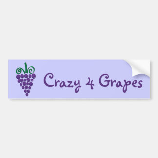 Kawaii Grapes Bumper Sticker