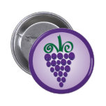 Kawaii Grapes Button
