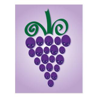 Kawaii Grapes Postcard