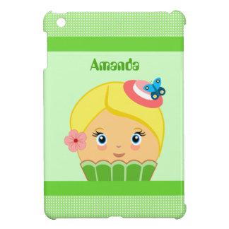 Kawaii Green Cute Cupcake Character IPad Mini Case
